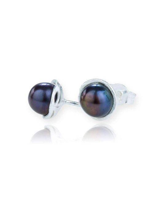Lavan - Blue Silver And Peacock Stud Earrings - Lyst
