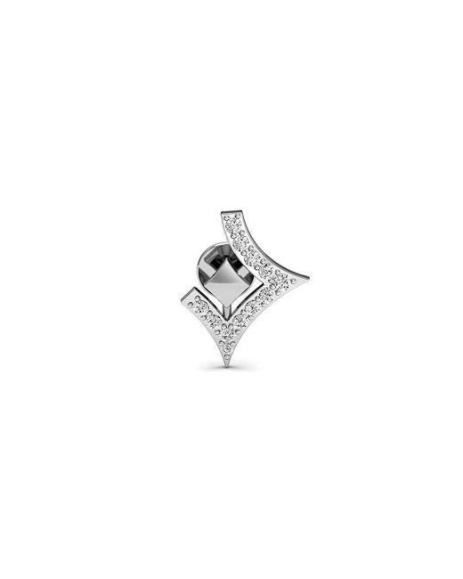 Diamoire Jewels Star Shape Premium Diamond Earrings in 14kt White Gold cPN01pwFr