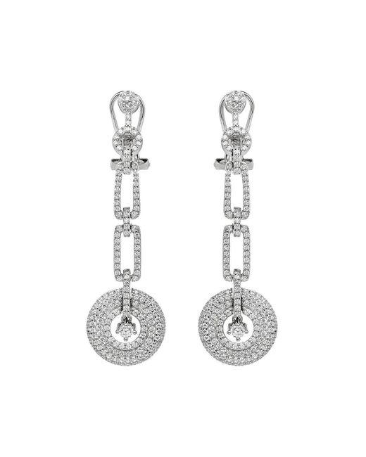 Lustre of London - White Art Deco Drop Earrings - Lyst