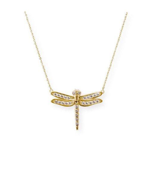 J.Herwitt - Metallic Small Dragonfly Necklace - Lyst