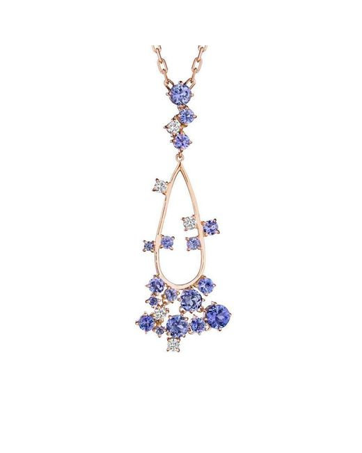 Madstone Design - Multicolor Melting Ice Tanzanite And Diamond Pendant - Lyst