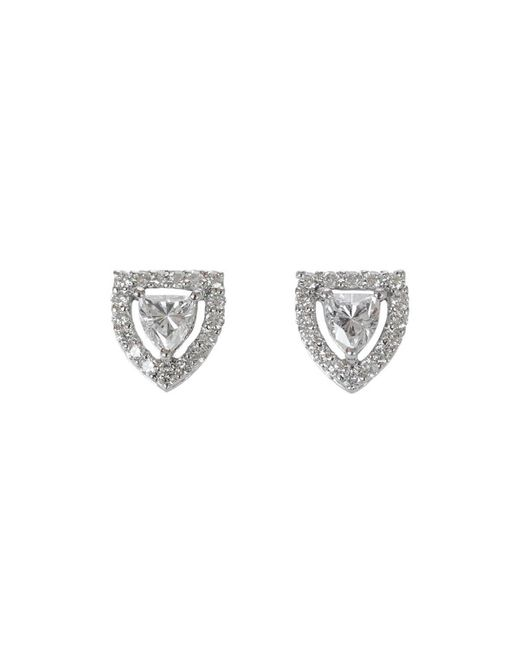 Ri Noor Metallic Fancy Shield Shape Diamond Stud Earrings
