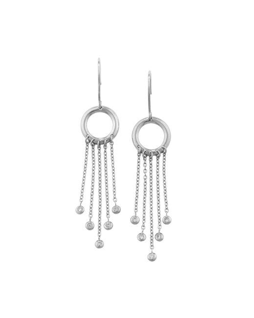 London Road Jewellery - Multicolor Portobello White Gold Diamond Fringe Drop Earrings - Lyst