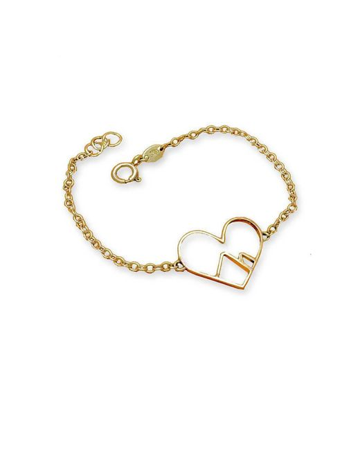 Peak Jewellery - Metallic 9kt Yellow Gold Love The Mountains Bracelet - Lyst