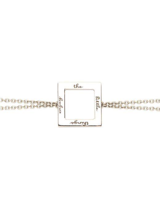 Ongkara - Multicolor Enjoy The Little Things Chain Bracelet - Lyst