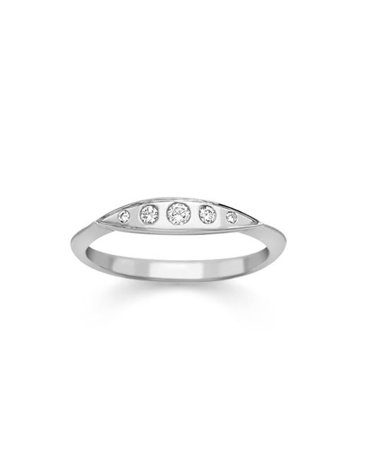London Road Jewellery - Multicolor Portobello White Gold Diamond Velvet Leaf Single Row Ring - Lyst