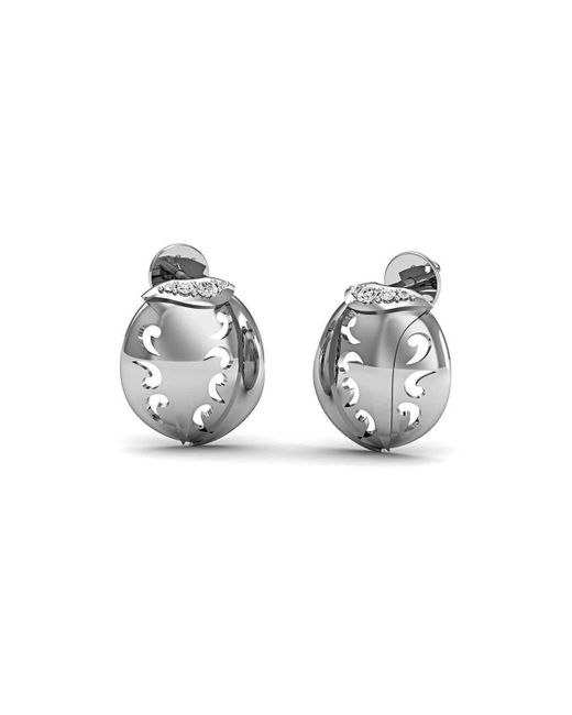 Diamoire Jewels - Metallic 14kt White Gold And Premium Diamonds Pave Earrings - Lyst