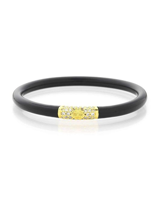 BuDhaGirl - White Gold & Black All Weather Bangles | - Lyst