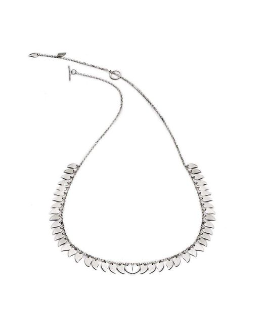 Chavin Couture | Metallic Silver Large Leaf Necklace | Lyst