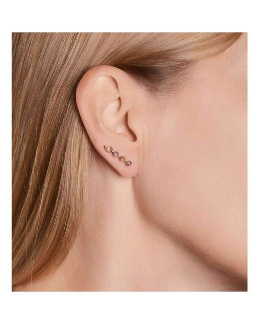 Perle de lune Ear Cuff 18kt Gold Blue Gemstones BiAvwC