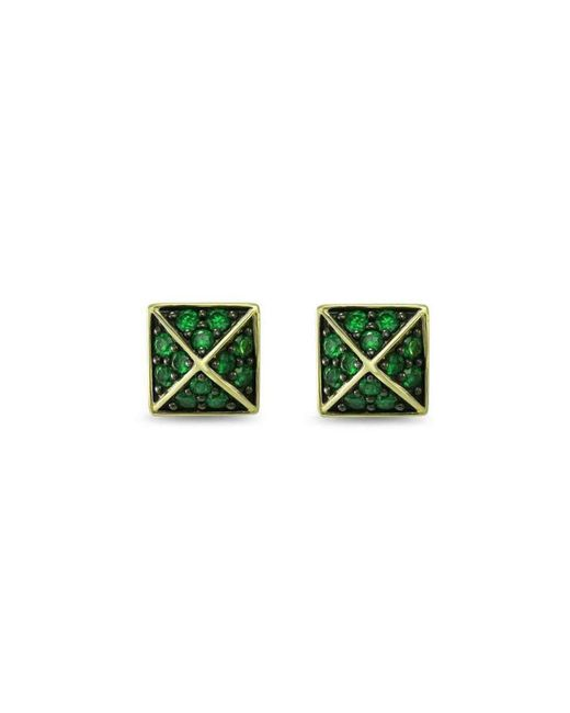 Realm Empire Pave Square Stud Earring nve38