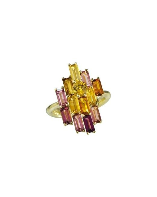 Daou Jewellery - Multicolor Golden Bright Ring - Lyst