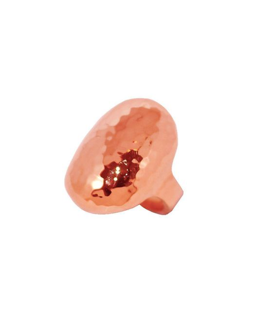 Murkani Jewellery - Orange Rose Gold Creation Oval Ring - Lyst