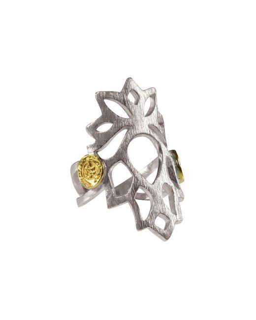 Sima Vaziry - Metallic Bloom Ring - Lyst