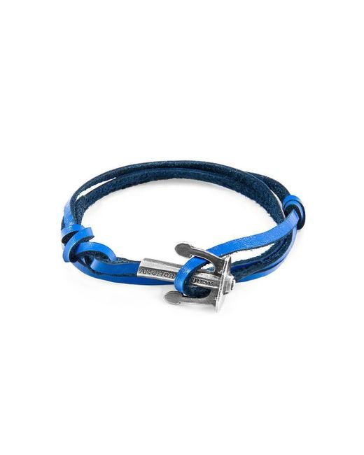 Anchor & Crew - Royal Blue Union Silver And Leather Bracelet - Lyst