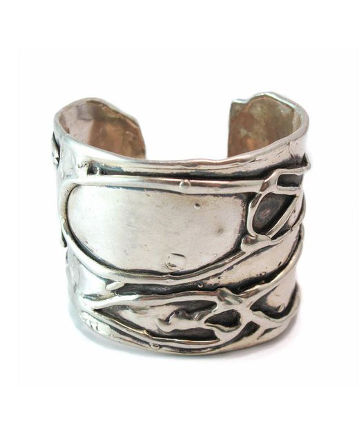 Private Opening - Metallic Large Byzantine Oxidized Silver Cuff - Lyst