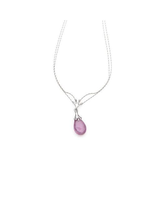 Serena Fox - Metallic Aurora White Gold And Tourmaline Necklace - Lyst