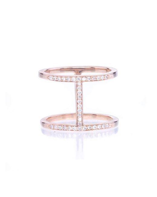 Alexa Leigh   Metallic Gold And Champagne Pave Diamond Elijo Ring   Lyst