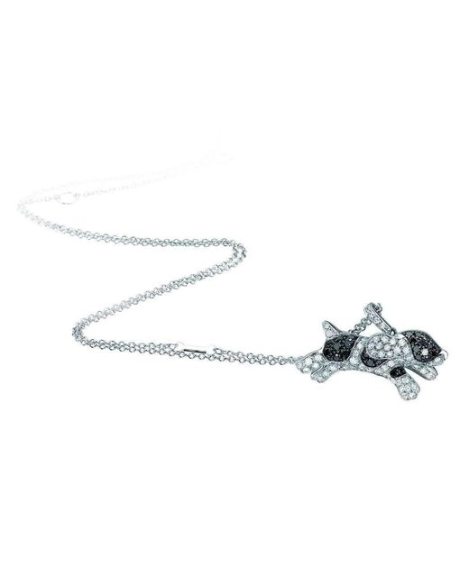 Pinomanna - Multicolor White Gold & Diamond Pet Jewels Collection Dog Necklace | - Lyst