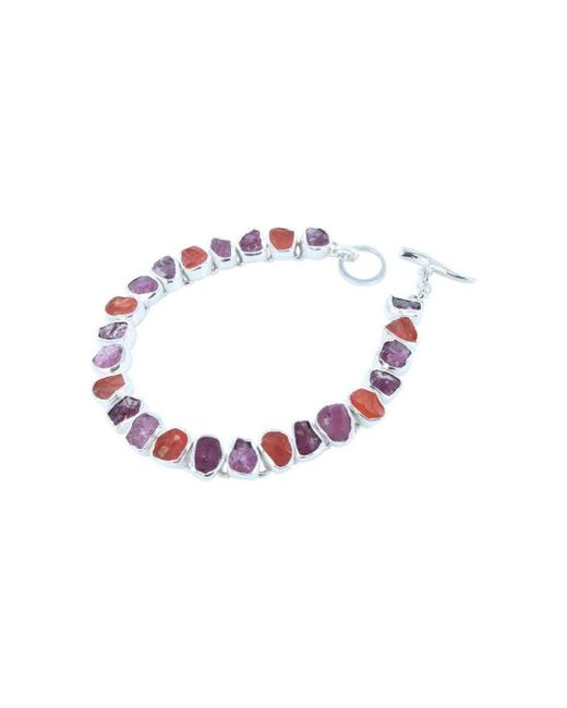 Reeves and Reeves - Multicolor Rough Tourmaline, Ruby And Carnelian Bracelet - Lyst