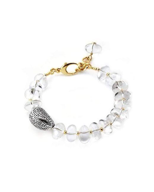 Elisa Ilana Jewelry - Multicolor Yellow Gold, Silver & Quartz Lollies Bracelet | - Lyst
