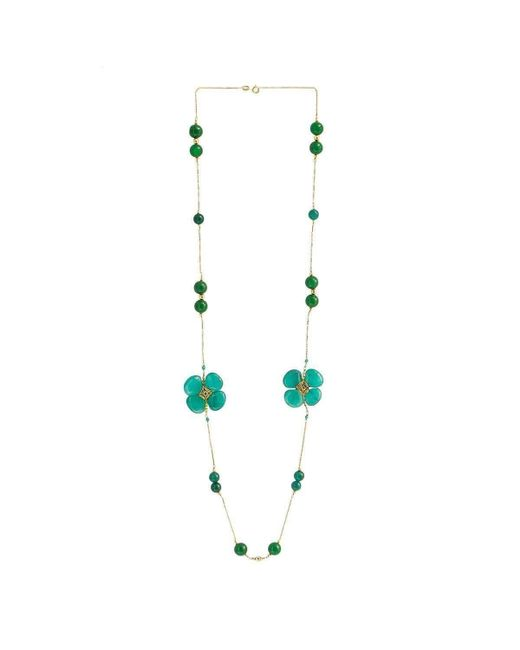 M's Gems by Mamta Valrani - Blue Clover Chain With Jade, Onyx And Quartz - Lyst