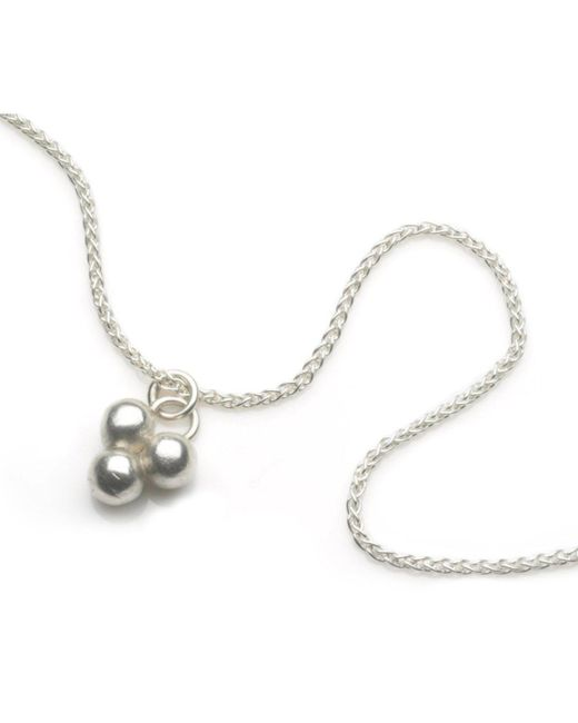 Naomi Tracz Jewellery - Metallic Three Orb Pendant In Silver - Lyst