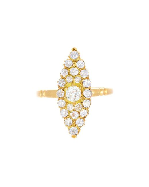 Alexis Danielle Jewelry - Metallic Art Deco Marquis Shape Diamond Ring - Lyst