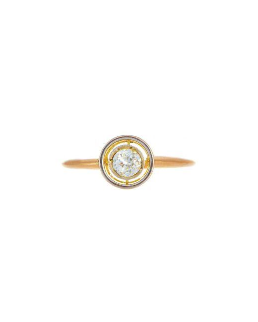 Alexis Danielle Jewelry | Metallic Art Deco Diamond Circle Ring 18kt Yellow Gold | Lyst