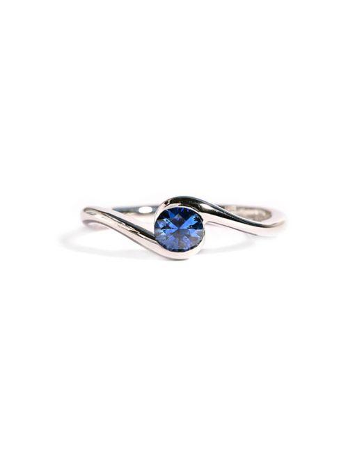 Ed Wilson Jewellery Blue Platinum Atlantic Wave Ring