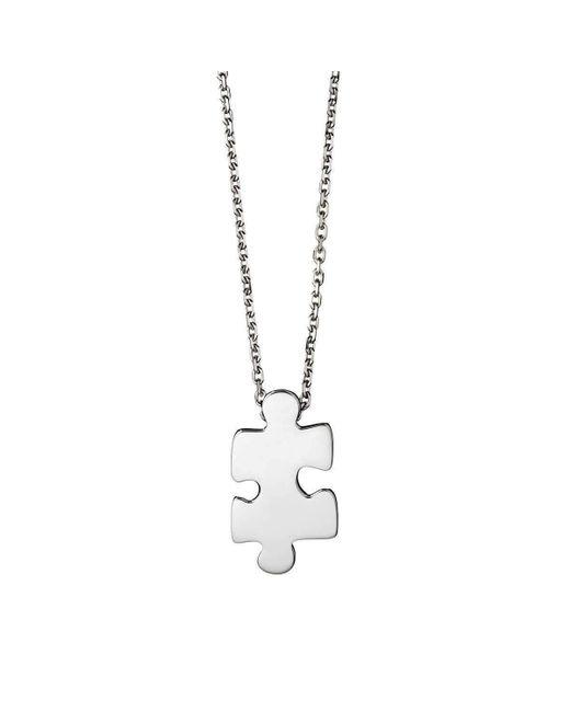 Akillis - Metallic Puzzle White Gold Xs Pendant - Lyst