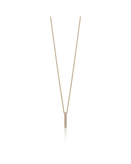 Soley London - Metallic 18kt Rose Gold Diamond Pendant - Lyst