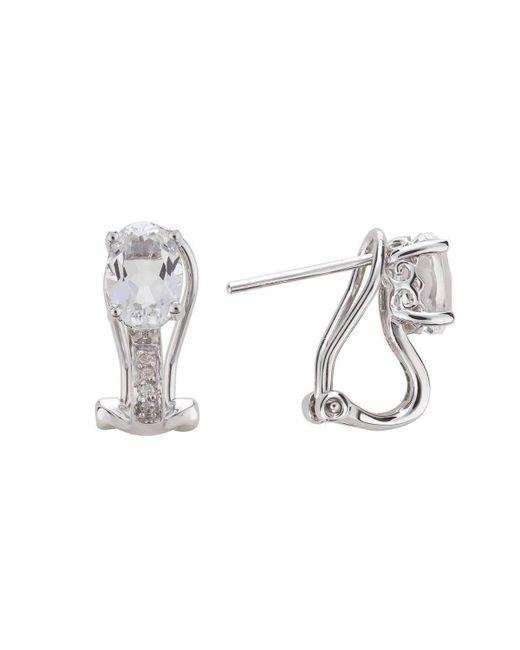 Lali Jewels   14kt White Topaz Earring - April Birthstone   Lyst