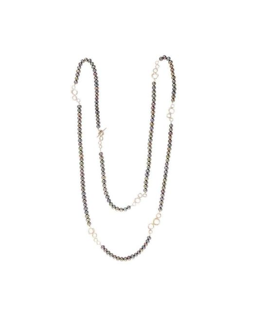 Erin Cox Jewellery - Gray O2 Bubble Link Wrap Necklace - Lyst