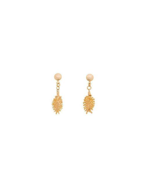 Amazona Secrets - Multicolor 18kt Gold Bur Earrings - Lyst