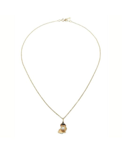 Betty Balaba | Metallic White Pearl Of Africa Small Necklace | Lyst