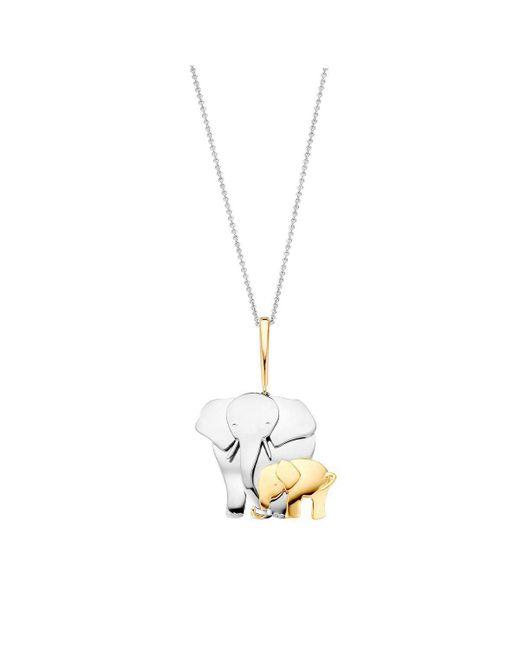 Baskania - Metallic Elephant Pendant Necklace - Lyst
