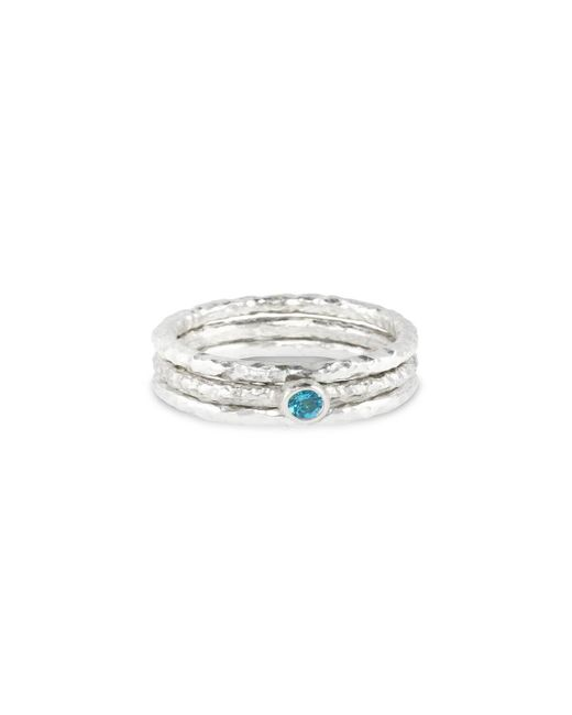 Paul Magen - Metallic Sterling Silver & Topaz Tribus Ring | - Lyst