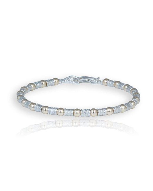 Lavan - Metallic Handmade Silver And Gold Etched Bracelet - Lyst