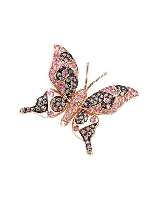 Pinomanna - Multicolor Natural Chic Butterfly Necklace - Rose Gold - Lyst