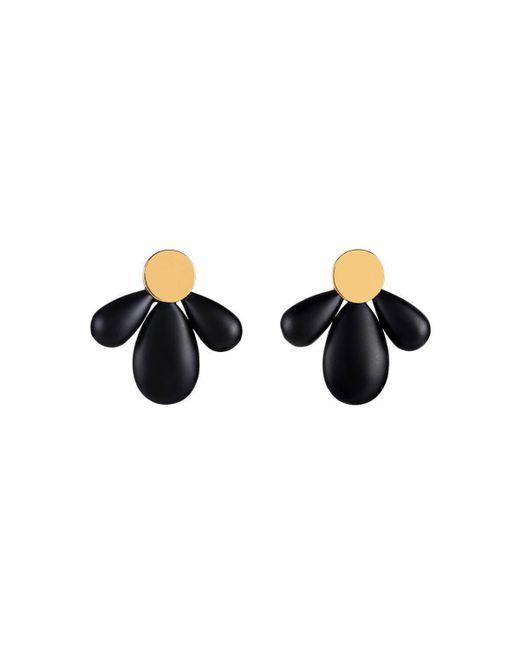 Mimata - Black Cocar Earrings - Small - Lyst