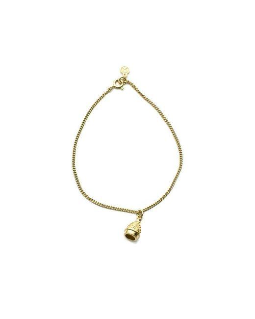 Patience Jewellery | Metallic Single Bell Bracelet Vm | Lyst