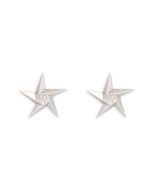Daou Jewellery - White Star Diamond Earrings - Lyst
