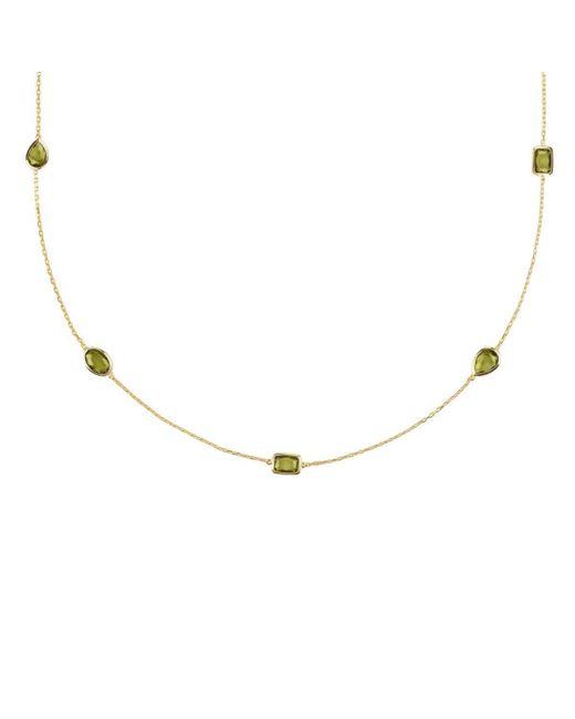 Latelita London Venice Long Chain Necklace Gold Blue Topaz ZmYmC