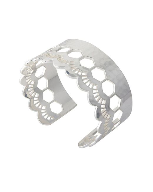 Murkani Jewellery - Metallic Lace Silver Edge Cuff - Lyst