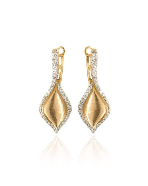 Estenza - Metallic Emma Yellow Gold Diamond Earrings - Lyst