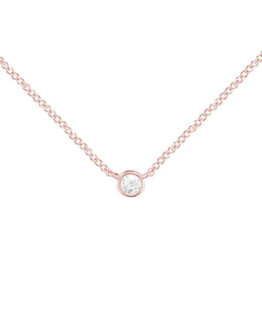 London Road Jewellery - Metallic Rose Gold Diamond Solitaire Raindrop Pendant Necklace - Lyst