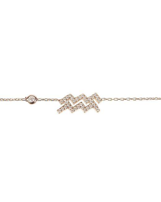 Latelita London - Metallic Aquarius Zodiac Bracelet Rose Gold - Lyst