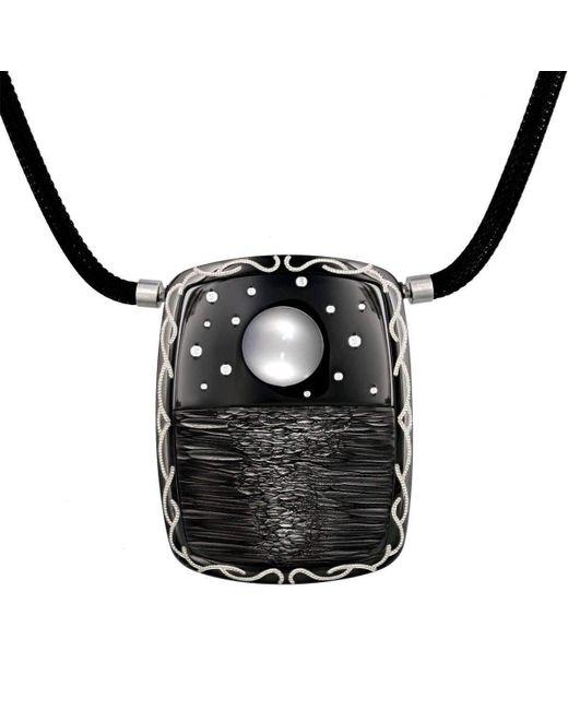 "Zoltan David - Black ""moonshine"" Necklace - Lyst"