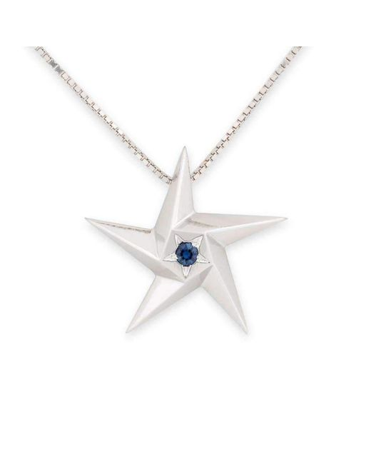 Daou Jewellery - Multicolor Midnight Star Blue Sapphire Pendant - Lyst